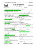 Đáp án đề thi thử Đại học Môn Hóa Mã đề 002