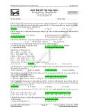 Đáp án đề thi thử Đại học Môn Hóa Mã đề 003
