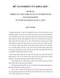Đề tài : Nghiên cứu công nghệ sản xuất ván ghép thanh dạng finger joint từ gỗ Mỡ (Manglietia glauca anet) part 1