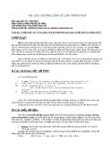 Tài liệu hướng dẫn về lập trình PHP - Mr. Cảnh Phúc