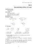 Giáo trình Thực hành Điện tử - Bài 4: Transistor lưỡng cực BJT