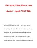 Hình tượng Những đứa con trong gia đình – Nguyễn Thi