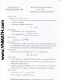 Đề thi thử đại học môn toán lần thứ 6 trường THPT chuyên đại học sư phạm
