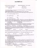 Đề thi thử đại học lần thứ 6 môn vật lý năm 2011 trường THPT chuyên ĐHSP