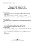 Đề thi thử môn địa lí  - THPT Lê Qúy Đôn  - Quảng Trị - đợt 2