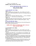 Đề thi thử môn hóa - THPT Lê Qúy Đôn  - Quảng Trị - đợt 2