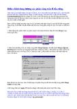 Điều chỉnh dung lượng các phân vùng trên ổ đĩa cứng