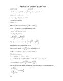 Phần 2: Lời giải và hướng dẫn bài tập đại số sơ cấp chương: Hàm số
