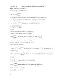Lời giải và hướng dẫn bài tập đại số sơ cấp - Chương 2