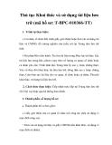 Thủ tục Khai thác và sử dụng tài liệu lưu trữ (mã hồ sơ: T-BPC-010366-TT)