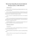 Thủ tục tặng thưởng Bằng khen cấp tỉnh thành tích đối ngoại (mã hồ sơ: T-BPC-010716-TT)