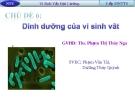 Báo cáo: Dinh dưỡng của vi sinh vật