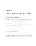 Bài giảng XÁC SUẤT và THỐNG KÊ - Chương 4
