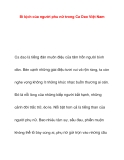 Bi kịch của người phu nữ trong Ca Dao Việt Nam