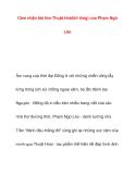 Cảm nhận bài thơ Thuật Hoài(tỏ lòng) của Phạm NgũLão