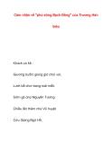 Cảm nhận về ''phú sông Bạch Đằng'' của Trương HánSiêu