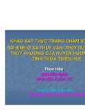 Đề tài: Thực trạng chăm sóc trẻ sơ sinh ở xã Thủy Vân, thủy Dương và Thủy Phương Thừa Thiên Huế