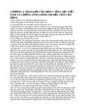 SỰ RA ĐỜI CỦA ĐẢNG CỘNG SẢN VIỆT NAM CÙNG CƯƠNG LĨNH CHÍNH TRỊ ĐẦU TIÊN CỦA ĐẢNG