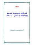 Đồ án phân tích thiết kế HTTT - Quản lý thư viện