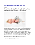 Cách vệ sinh miệng cho bé dưới 2 tháng tuổi