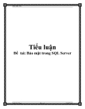 Đề  taì: Bảo mật trong SQL Server