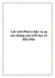 Lút vích Phoi-ơ-bắc và sự cáo chung của triết học cổ điển Đức