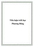 Tiểu luận triết học Phương Đông