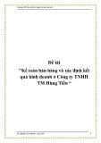 """Đề tài """"Kế toán bán hàng và xác định kết quả kinh doanh ở Công ty TNHH TM Hùng Tiến """""""