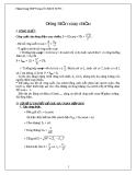 Chuyên đề: Dòng điện xoay chiều