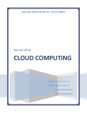 """Báo cáo đề tài: """" Tìm hiểu cloud computing """""""