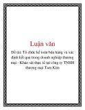 Đề tài: Tổ chức kế toán bán hàng và xác định kết quả trong doanh nghiệp thương mại - Khảo sát thực tế tại công ty TNHH thương mại Tam Kim