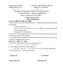 ĐỀ THI KẾT THÚC HỌC PHẦN TRÍ TUỆ NHÂN TẠO - ĐỀ SỐ 11