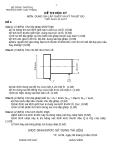 Đề thi và đáp án học kỳ môn Dung sai lắp ghép và kỹ thuật đo