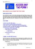 ACCESS 2007 - TẠO FORM 2