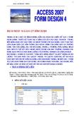 ACCESS 2007 - TẠO FORM 4