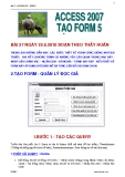 ACCESS 2007 - TẠO FORM 5