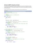 Gửi mail với SMTP chứng thực với Gmail
