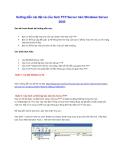 Hướng dẫn cài đặt và cấu hình FTP Server trên Windows Server 2003
