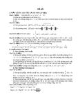 Đề thi thử toán - số 1 năm 2011