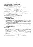 Đề thi thử toán - số 22 năm 2011