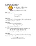 KỲ THI OLYMPIC TRUYỀN THỐNG 30/4 LẦN THỨ XIII TẠI THÀNH PHỐ HUẾ  ĐỀ THI MÔN TOÁN LỚP 10