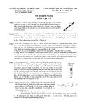 Đề thi học sinh giỏi trường môn vật lý THPT chuyên Nguyễn Đình Chiểu