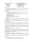 Đề thi  học sinh giỏi môn Sinh lớp 12 - Sở GD&ĐT Bắc Giang