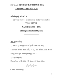 Đề thi  học sinh giỏi môn Toán lớp 12 - Sở GD&ĐT Thanh Hóa