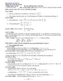 Đề tự ôn thi đại học môn toán - Đề số 15