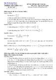 Đề tự ôn thi đại học môn toán - Đề số 16
