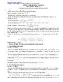 Đề tự ôn thi đại học môn toán - Đề số 17