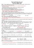 Đề thi thử đại học môn vật lý năm 2011 - Đề số 7