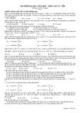 Đề thi thử đại học môn vật lý năm 2011 - Đề số 16