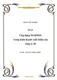 Đề tài: Ứng dụng MARMIX trong kinh doanh xuất khẩu của công ty 20
